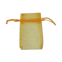 Organza Bag, 10 x 14cm, gold (50 pc/VE)