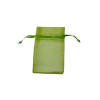 Organza Bag, 06 x 10cm, olive (50 pc/VE)