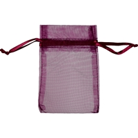 Organza Bag, 14 x 20cm, burgundy (50 pc/VE)