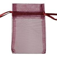 Organza Bag, 20 x 28cm, burgundy (50 pc/VE)