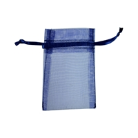 Organza Bag, 10 x 14cm, dark blue (50 pc/VE)
