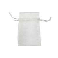 Organza Bag, 10 x 14cm, silver (50 pc/VE)