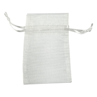 Organza Bag, 14 x 20cm, silver (50 pc/VE)