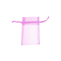 Organza Bag, 06 x 10cm, pink (50 pc/VE)