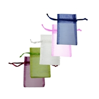 Mixed Organza Bags, 06 x 10cm (50 pc/VE)