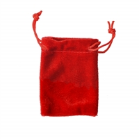 Velvet Bag, 10 x 14cm, red (50 pc/VE)