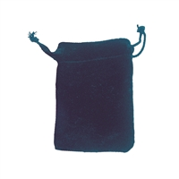 Velvet Bag, 14 x 20cm, blue (50 pc/VE)