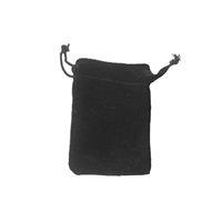 Velvet Bag, 05 x 7cm, black (50 pc/VE)