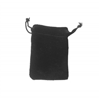 Velvet Bag, 06,5 x 10cm, black (50 pc/VE)