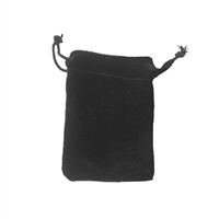 Velvet Bag, 10 x 14cm, black (50 pc/VE)
