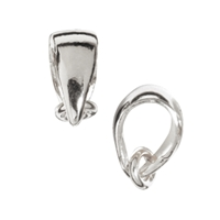 Single Loop with Eyelet 9mm, Silver (5 pc/VE)