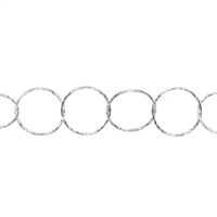 Chain by Meter, Diamanond Cut round, Silver, 09mm (1m)