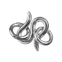 "Hook ""Standard"" with two loops, Silver, 08mm (10 pc/VE)"