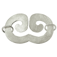 "Design Clasp ""Geminus Wave"" 50mm, Silver frosted (1 pc/VE)"