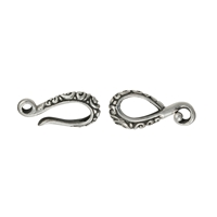 "Hook ""Paisley"" 32mm, Silver partially blackened (1 St./VE)"