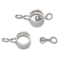 "Design Clasp ""Ring with Bobbin"" 10mm, Silver (1 pc/VE)"