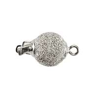 Ball Clasp 08mm, Silver diamant cut (1 pc/VE)