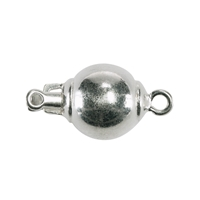 Ball Clasp 10mm, Silver (1 pc/VE)