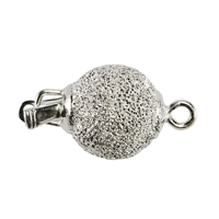 Ball Clasp 12mm, Silver stardust (1 pc/VE)