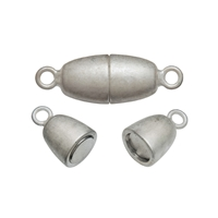 Magnetic Clasp oval shape 10mm, Silver (1 pc/VE)