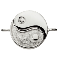 "Magnetic Clasp ""Yin Yang"" 23mm, Silber (1 pc/VE)"
