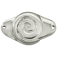 "Magnetic Clasp ""Spiral"" Silver, 25mm (1 pc/VE)"