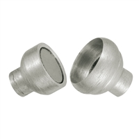 Magnetic Clasp for gluing 14mm, Silver frosted (1 pc/VE)