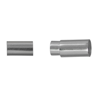 Magnetic Clasp Cylinder for 5mm Cords, Silver (1 pc/VE)