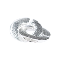 Interlocking Clasp round 14mm, Silver frosted (1 pc/VE)