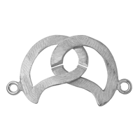 "Ring-Ring-Clasp ""Wave"" 25mm, Silver frosted (1 pc/VE)"