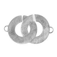 Interlocking Clasp round 30mm, Silver frosted (1 pc/VE)