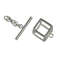 "Toggle ""Kubus"" 12mm, Silver (1 pc/VE)"