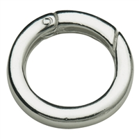 Ring Clasp 20mm, Silver, square-cut belt (1 pc/VE)