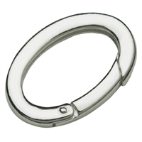 Ring Clasp 19 x 28mm, Silver, square-cut belt (1 pc/VE)