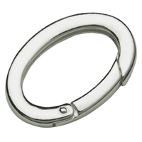 Ring Clasp 22 x 38 mm, Silver goldplated, square-cut belt (1 pc/VE)