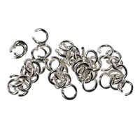 Jump Rings (open) 04mm, Silver (62 pc/VE)
