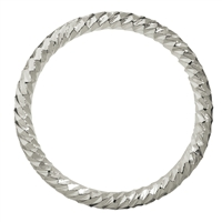 Hollow Ring facetted 15mm, Silver (6 pc/VE)
