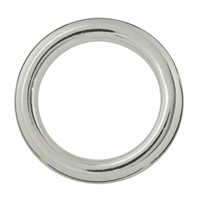 Hollow Ring Jumbo 25mm, Silver (2 pc/VE)
