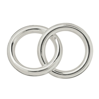 Hollow Ring Jumbo double 25mm, Silver (1 pc/VE)