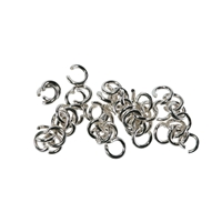 Jump Rings (open) 5mm, Silver (500 pc/VE)