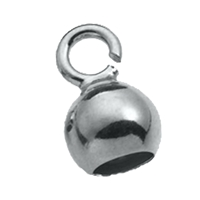 Bell Caps small Eye, 3,5mm, Silver (10 pc/VE)