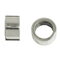 Spacer Tube 3,5mm, Silver frsoted (20 pc/VE)