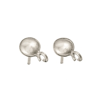 "Earpin with Loop ""Linse"" 6mm, Silver (6 pc/VE)"