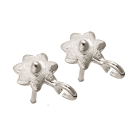 "Earpin with Loop ""Blüte"" (Blossom) 7mm, Silver frosted (4 pc/VE)"