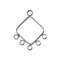 Rectangle with 6 Eyelets 14mm, Silver (6 pc/VE)