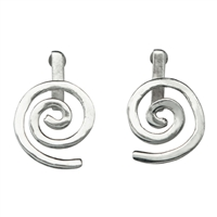 "Ear Stud ""Spirale"" Silver, for 15mm Donut"