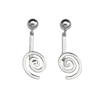 "Ear Pendant ""Spirale"" Silver, for 15mm Donut"
