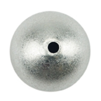 Bead 08,0mm, Silver frosted (6 pc/VE)