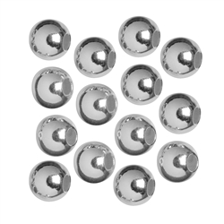 Crimp Bead Cover 5mm, Silver (appr. 290 pc/VE)