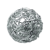 "Bead ""Wire Ball"" 16mm, Silver (1 pc/VE)"
